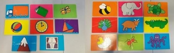 flash cards bichos e objetos